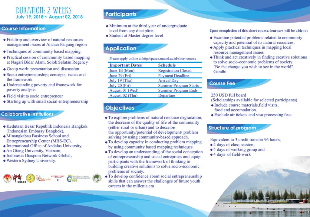 Summer Program 2018-Andalas University – Ostrom Center for